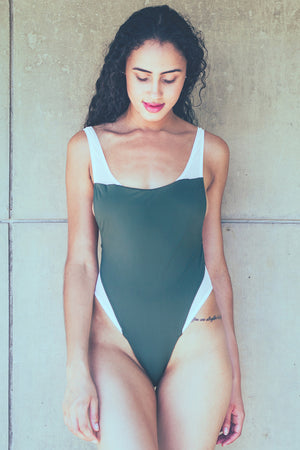 Bandits Swimwear Harlow One Piece in Dark Green