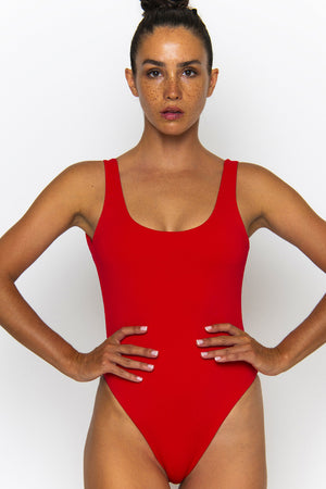 Novah Swimwear Isla One Piece Chilli Ecoluxe