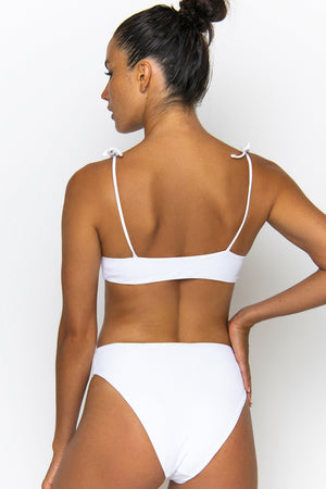 Novah Swimwear Elle Bottom White Ribbed