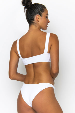 Novah Swimwear Soca Bottom White Ribbed