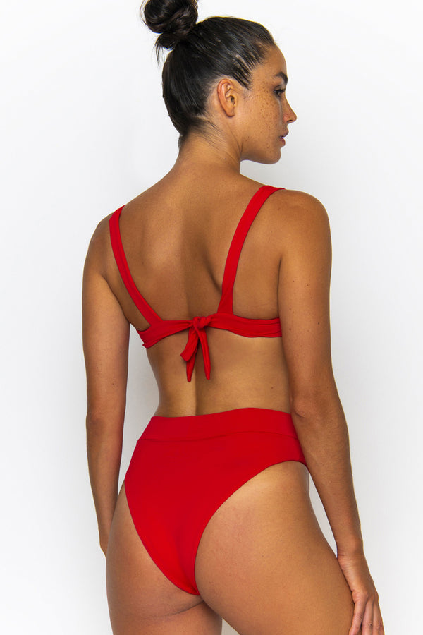 Novah Swimwear Hendrix Bottom Chilli Ecoluxe