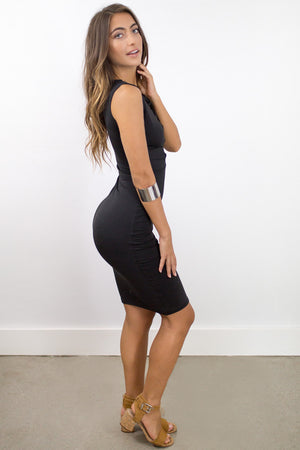 Sedona Midi Dress in Black