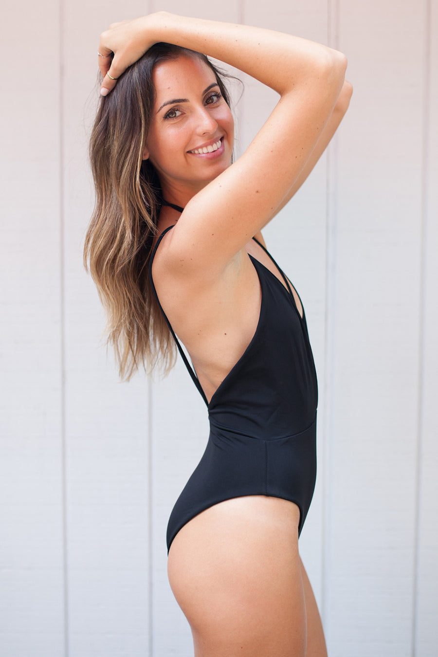 2016 Siempre Golden Swimwear Trestles One Piece in Midnight