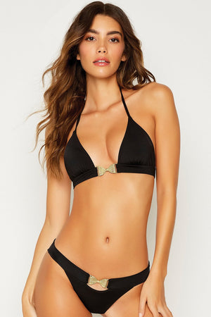 Beach Bunny Smith Triangle Top Black