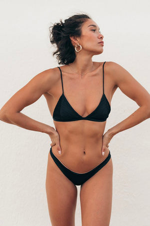 Sie Swim Stella Tri Top Black Front