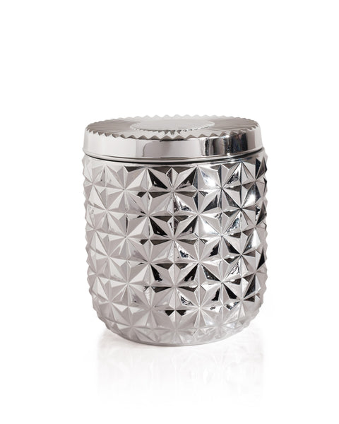 Jumbo Gilded Faceted Jar | Silver