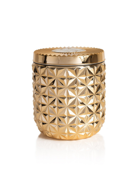 Jumbo Gilded Faceted Jar | Gold