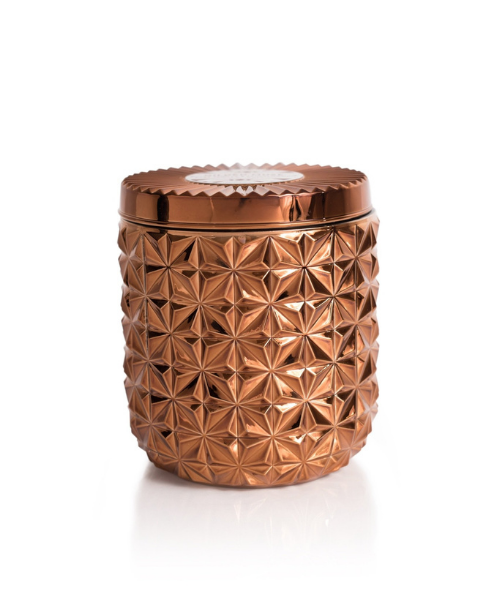 Jumbo Gilded Faceted Jar | Bronze