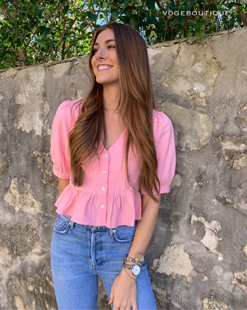 Bubble Gum Kaia Top