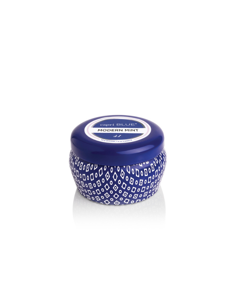 Mini Blue Tin Jar | Modern Mint