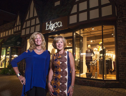 Barbara Karsky and Karen Herbert in front of BK & Co.