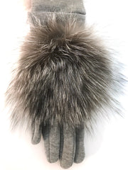 Comfort Grey Fur Gloves