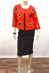Lipstick Red Rivet Jacket