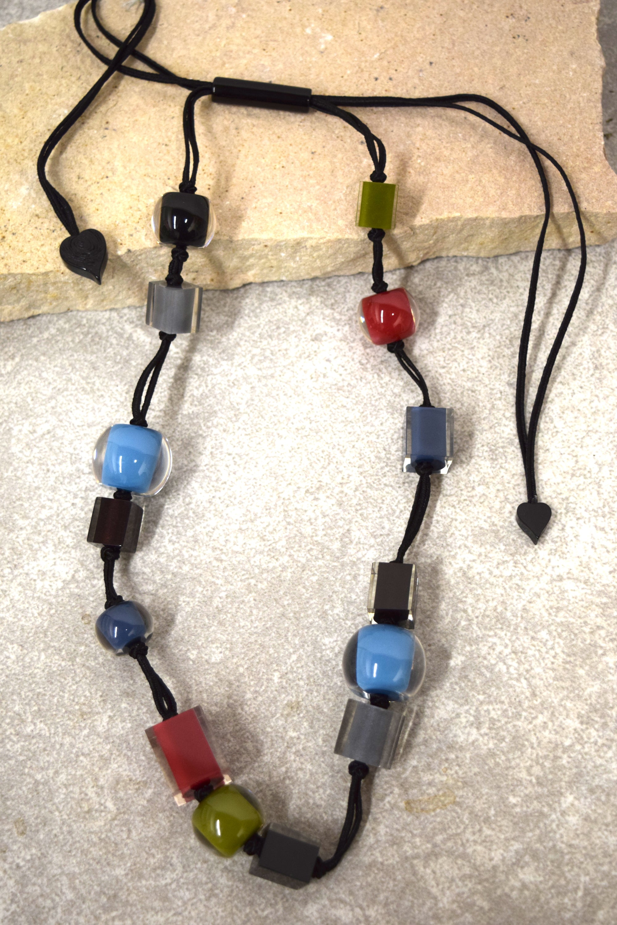 Colorful Cubes Necklace