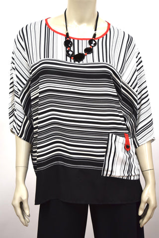 Striped Tunic with Pocket
