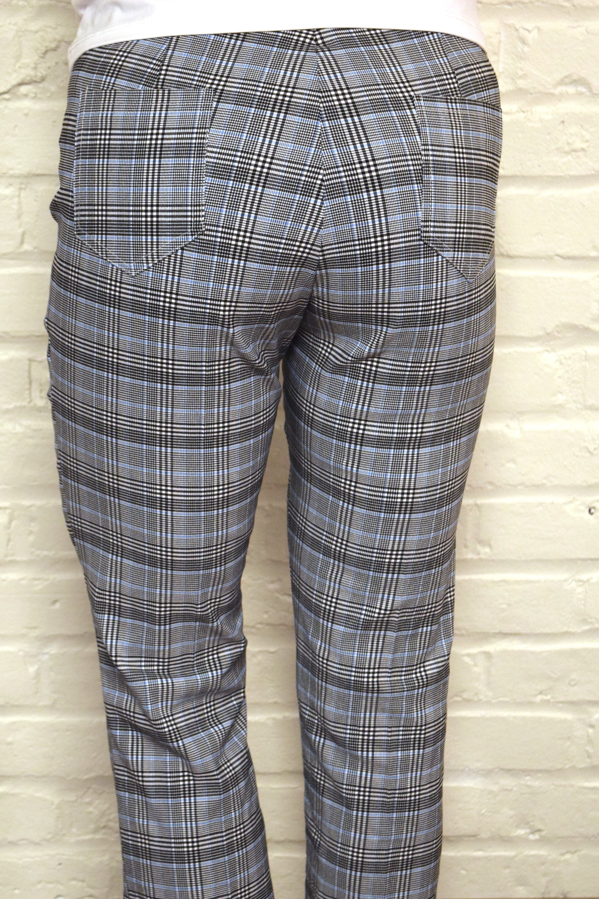 Glen Plaid/Blue Cuff Pant