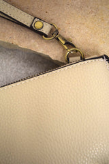 Mini Crossbody Wristlet - Stone