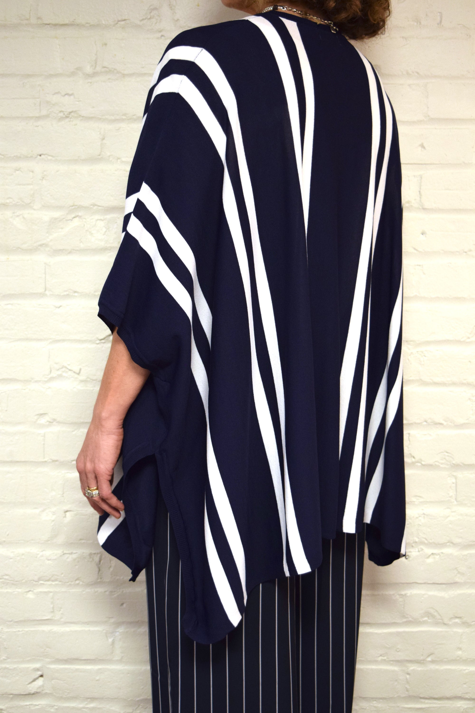 Navy Stripe Cardigan