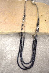 Glitter Necklace - Black and Silver