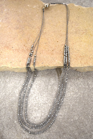 Glitter Necklace - Crystal and Silver
