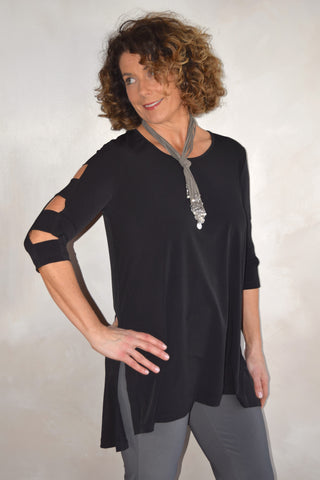 Square Cut-Out Sleeve Tunic