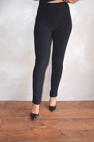 Narrow Long Black Pant