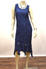 Fanciful Dress in Navy by Lee Anderson