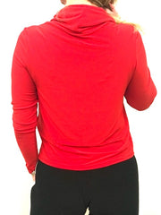 Red Zip Mock Top