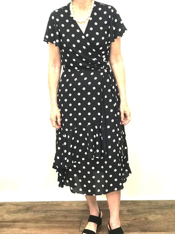 Flounce Dot Dress