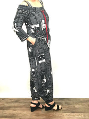 Newsprint Jumpsuit