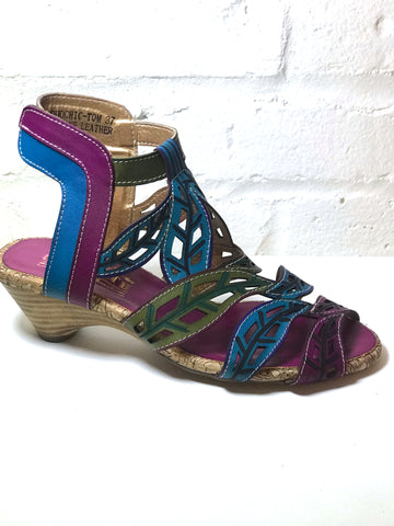 Colorful Filigree Sandal