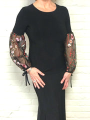 Poet Floral Sleeve Top