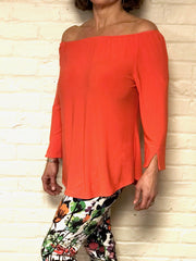Off Shoulder Coral Top