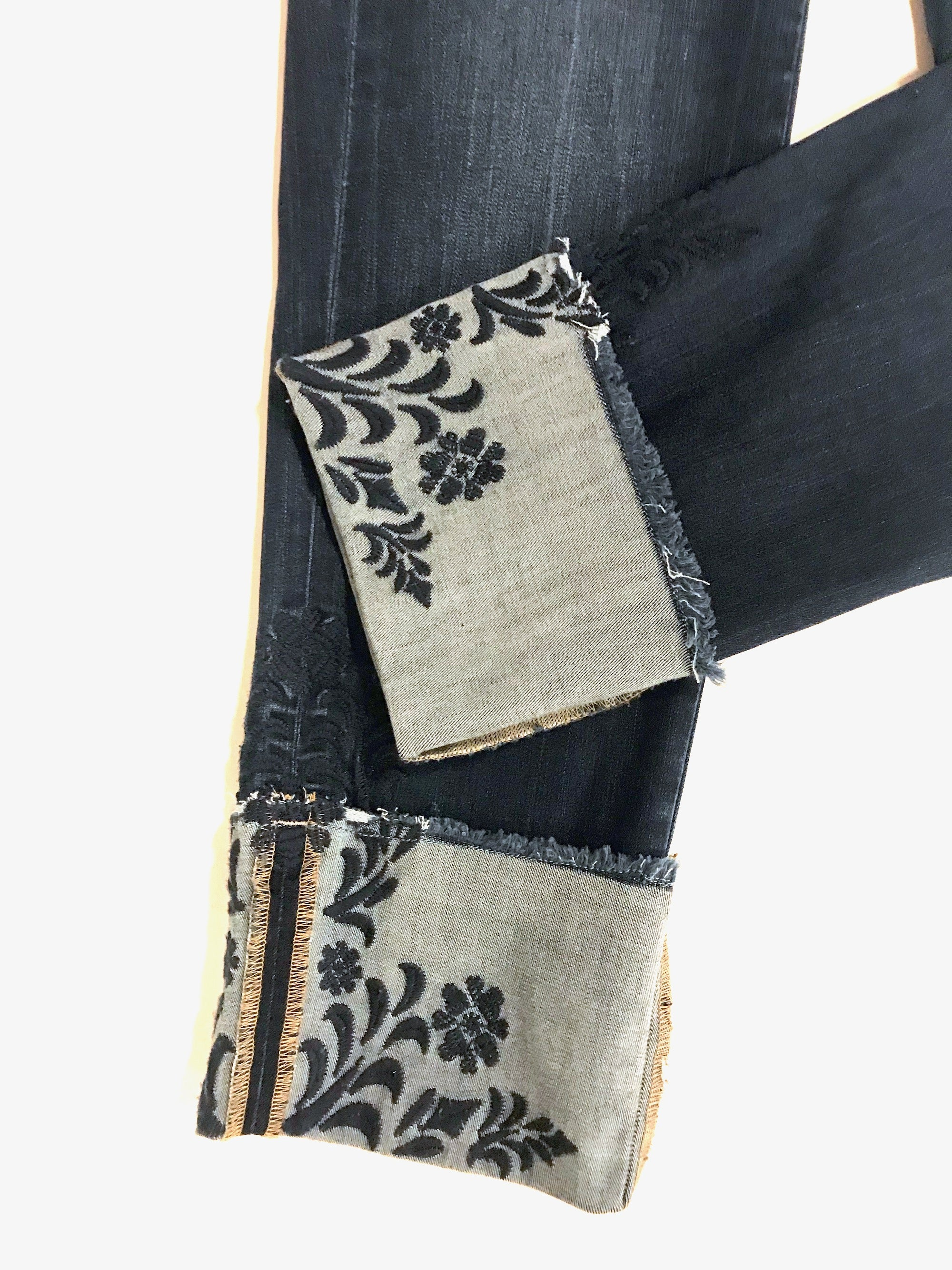 Embroidered Cuff Jeans