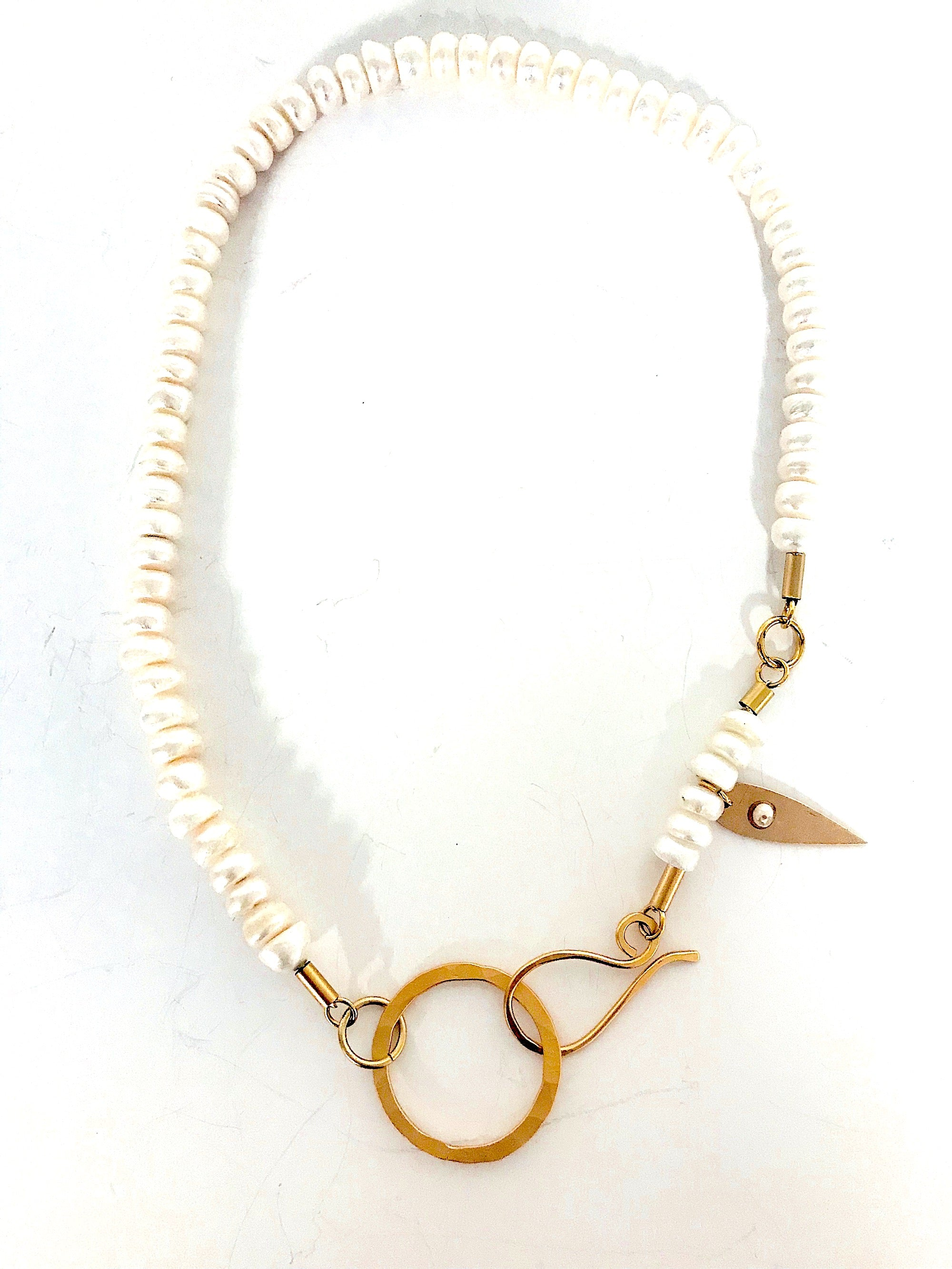 A Mix of Pearl and Gold Necklace