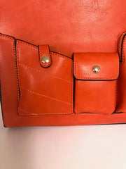 Orange Bag With Pockets