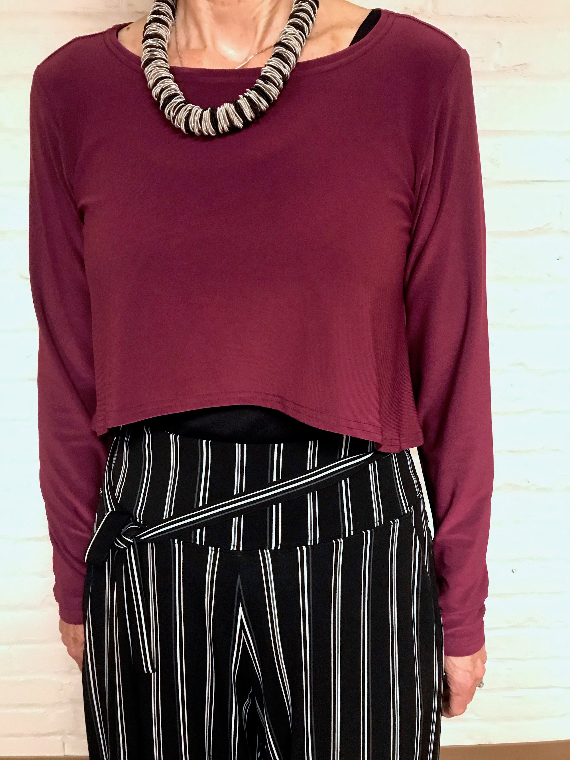 Shorty Top-Magenta