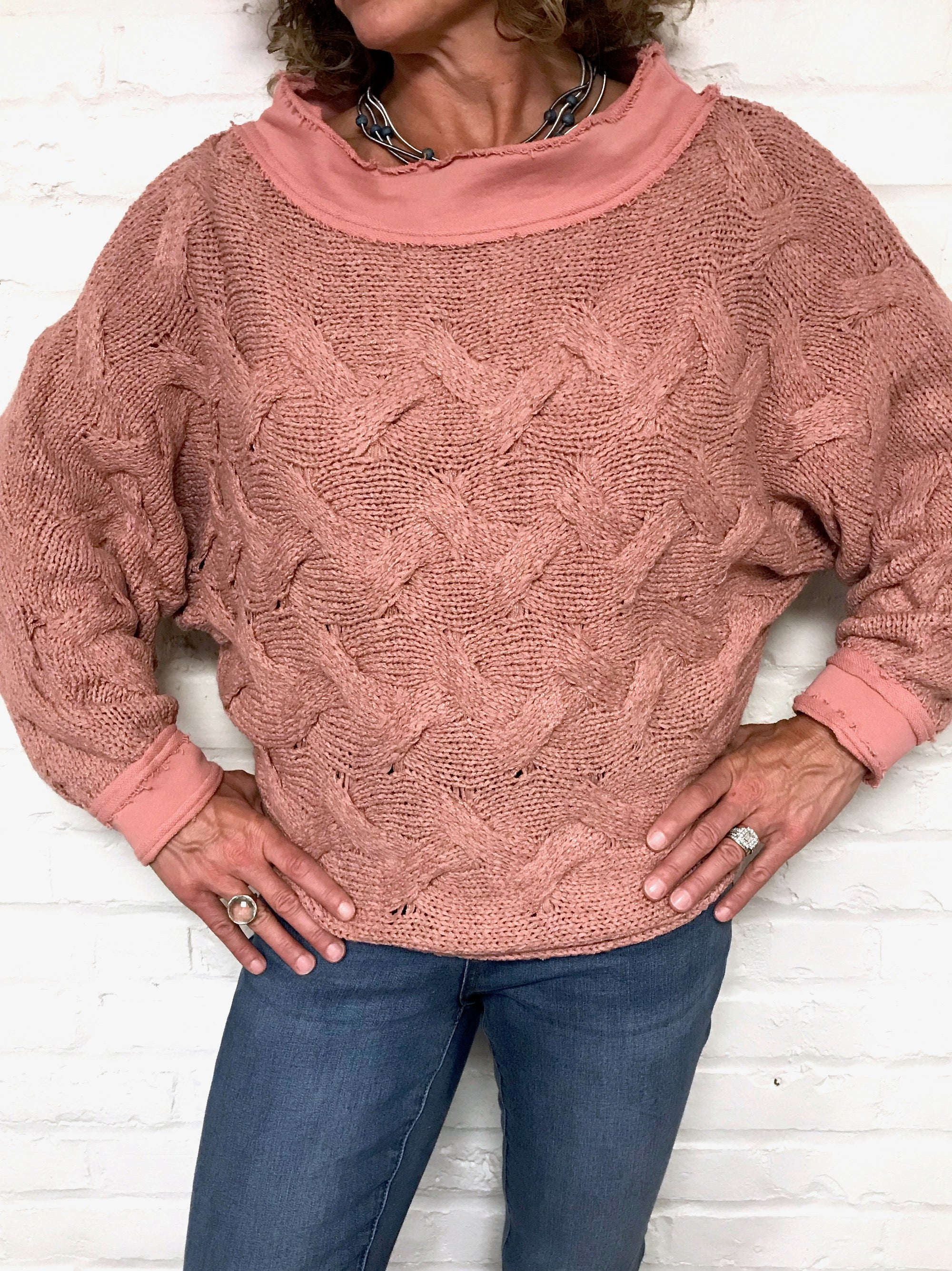 Cozy Drama Sweater - Pink