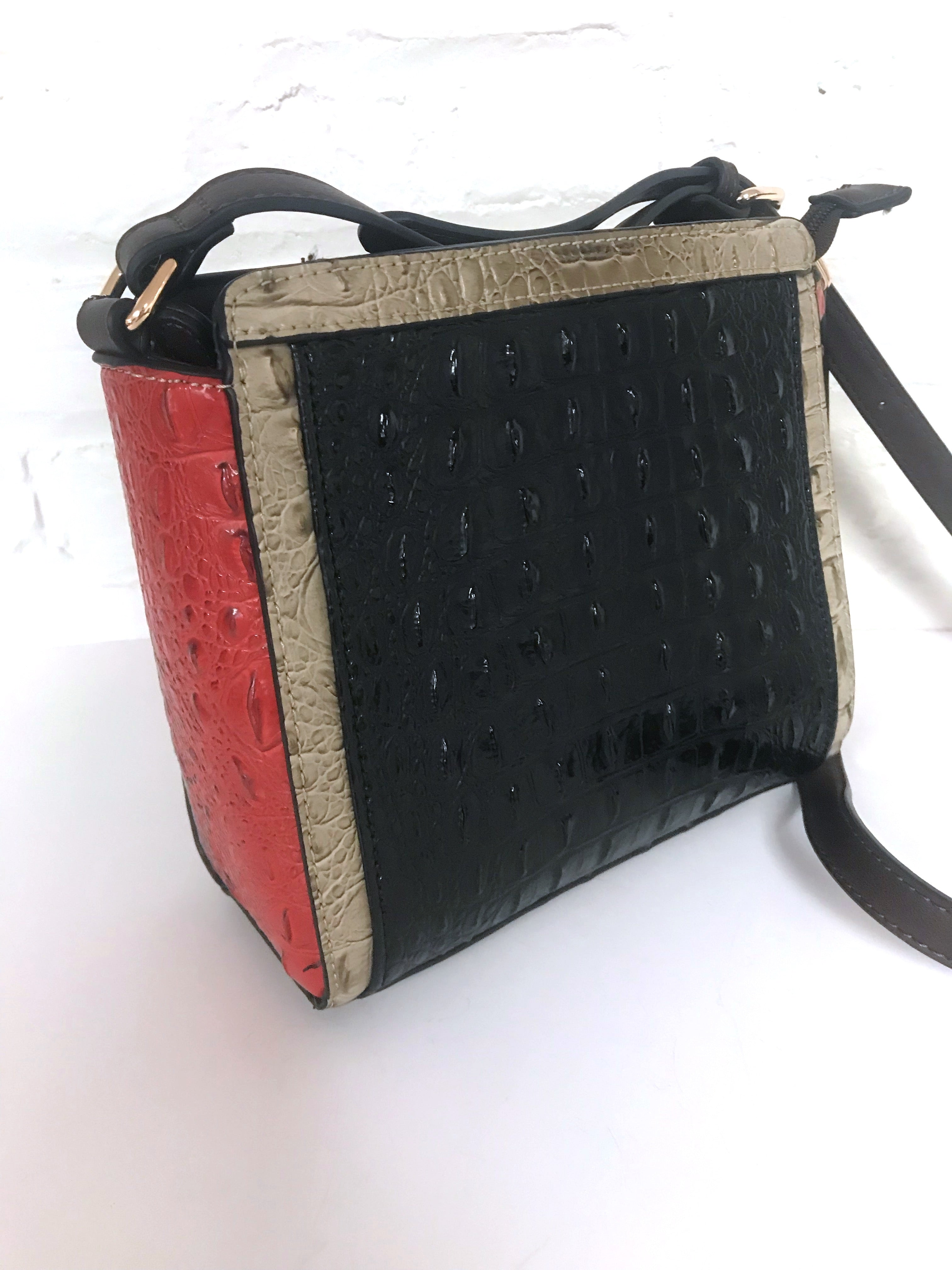 Multi Faux Crock Bag