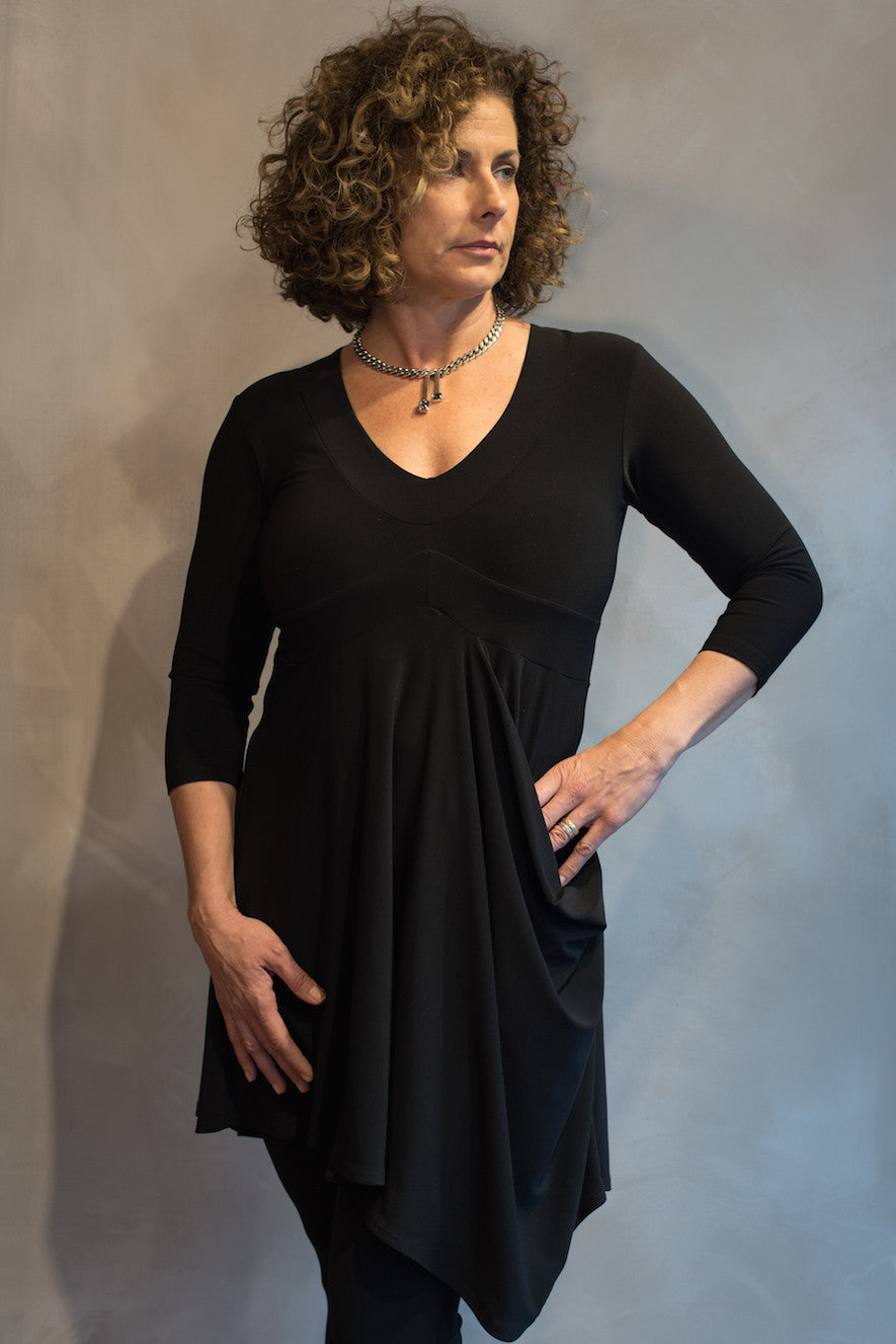 Soft Pocket Tunic - Black