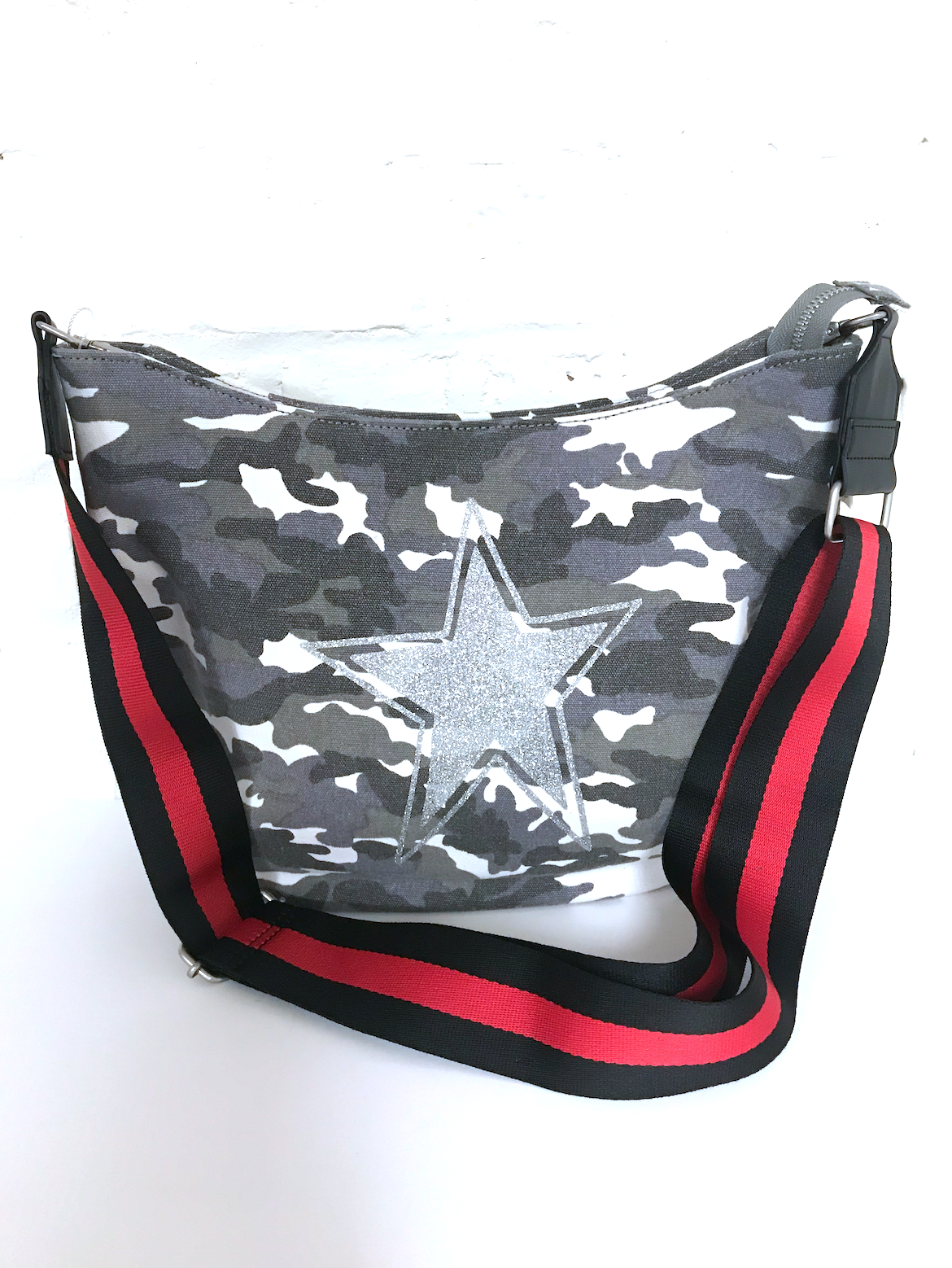Canvas Camo Crossover Bag