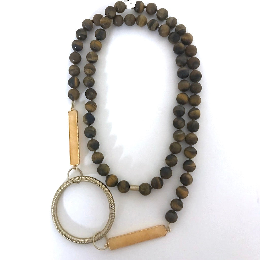 Long TigerEye Necklace