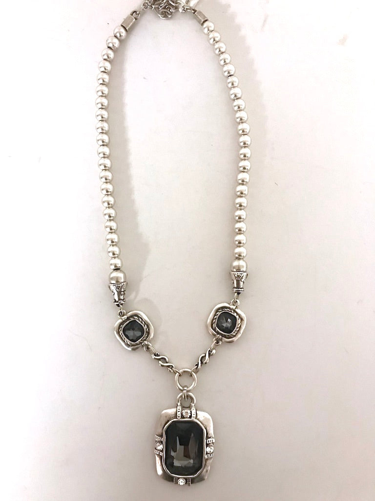 Smokey Crystal Bold Necklace