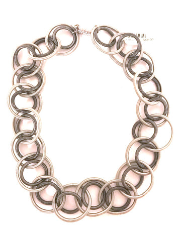 Rings of Silver Necklace