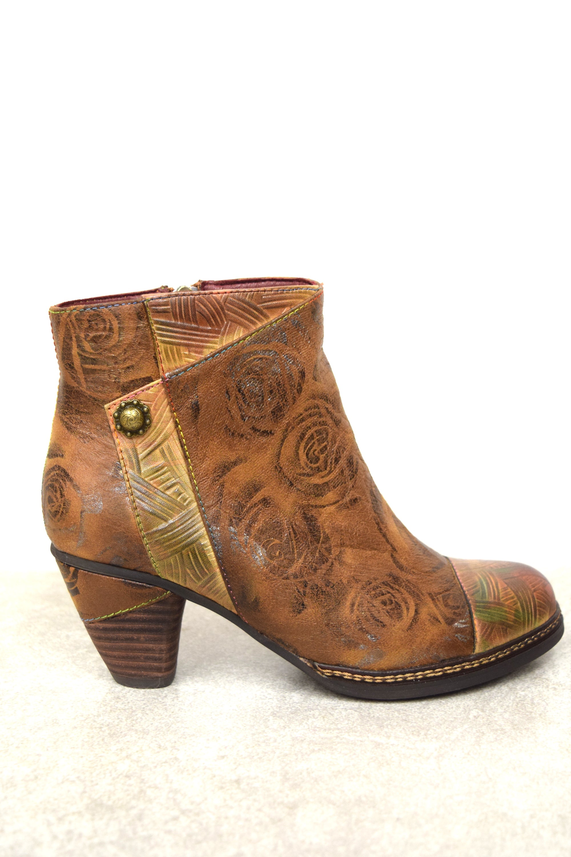 Brown Multi Leather Boot