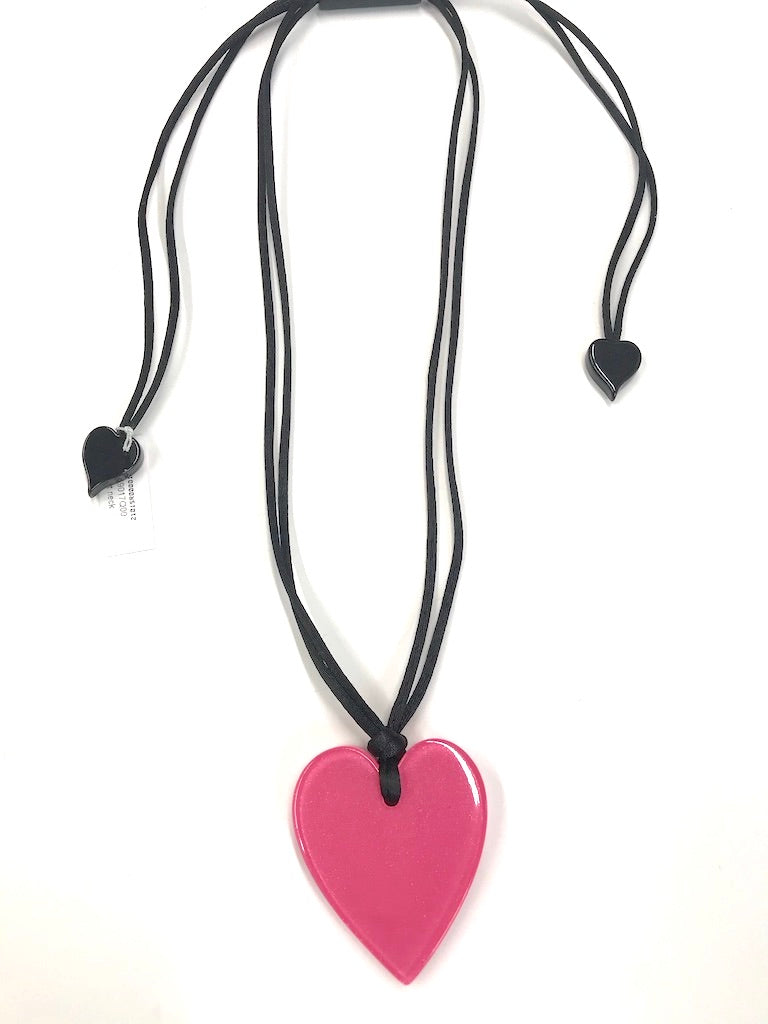 Small Pink Fill Your Heart Necklace