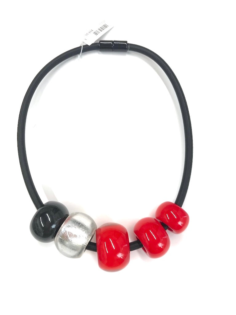 Bold Red Ball Necklace