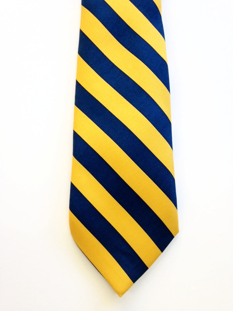 Navy/gold striped silk tie with by Vineyard Vines