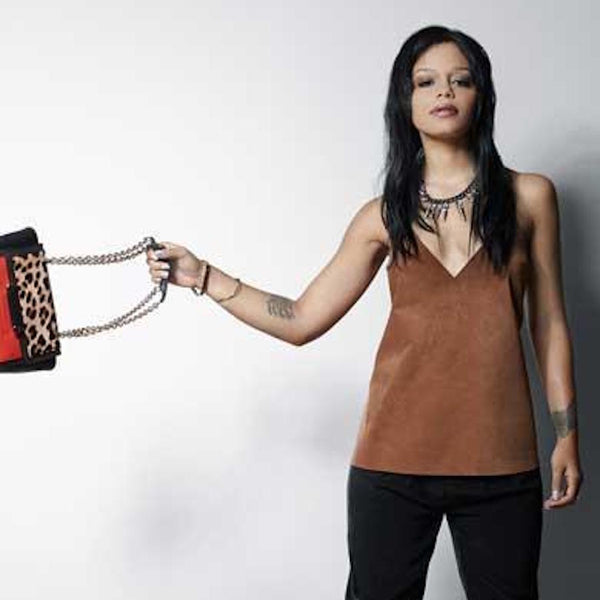 FEFE DOBSON KNOWS HOW TO ROCK HER SUEDE CAMI