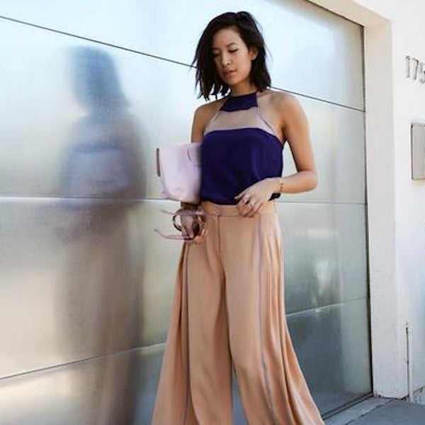 RACHEL NGUYEN FROM THATS CHIC IS SO CHIC IN HER HIGH TOP CAMI